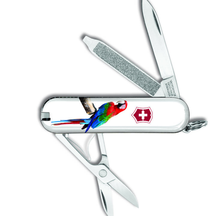 Victorinox Swiss Army Knife Custom Limited Edition Parrot Small Pocket Knife