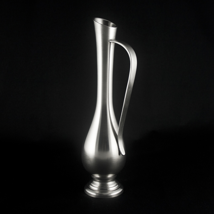 Vase, Pewter Flower Vase - Bud Vase 10 In.