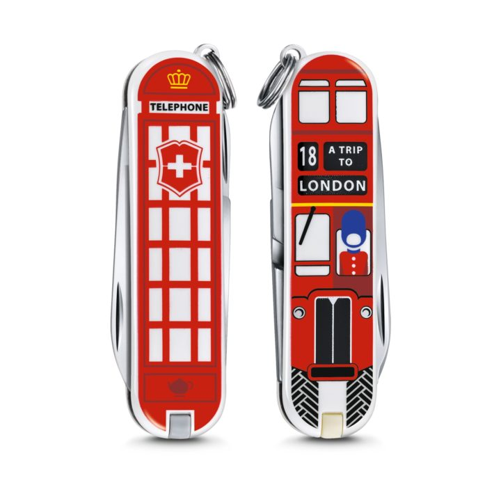 Custom London Swiss Army Knife Front and Back Victorinox Swiss Army Knife